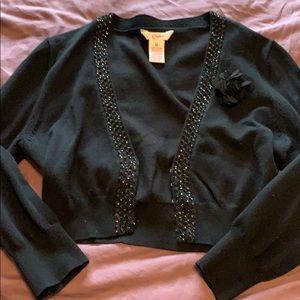 Black three-quarter length cardigan with sequins